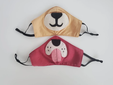 Kids Animal Face Mask - Assorted