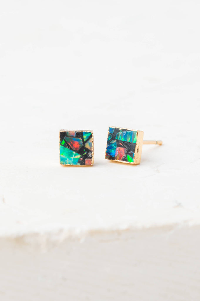 Starfish Project, Inc - Lena Sophia Multicolored Square Stud Earrings