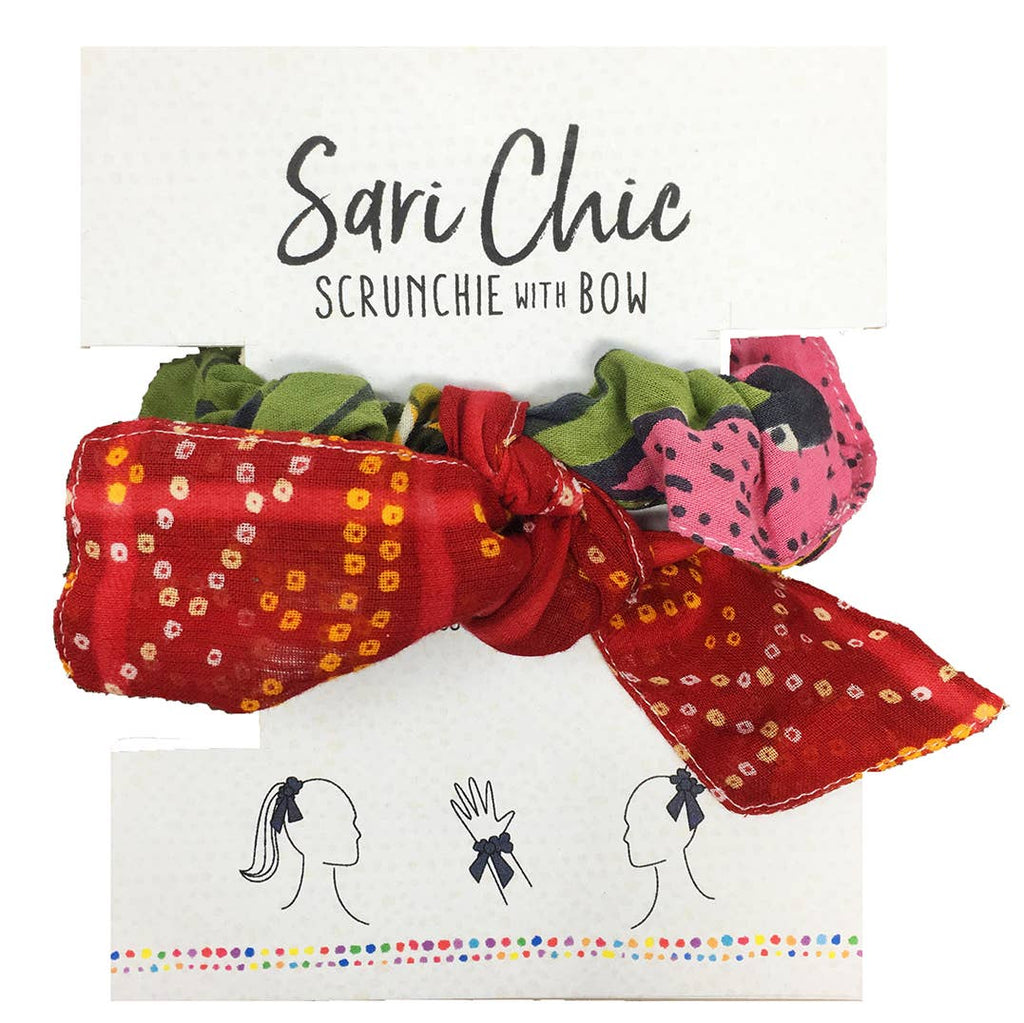 Sari Chic Scrunchie With Bow