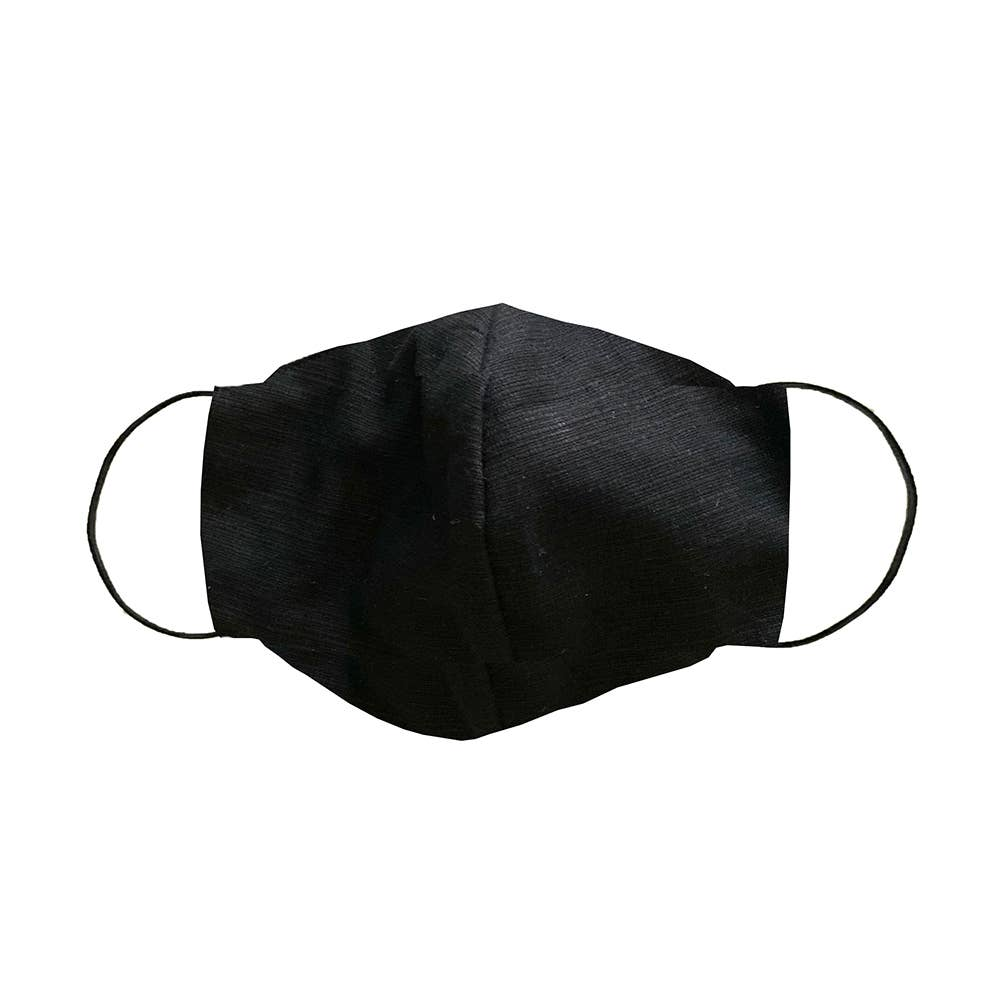 Lotus and Luna - Black Cotton Origami Face Mask