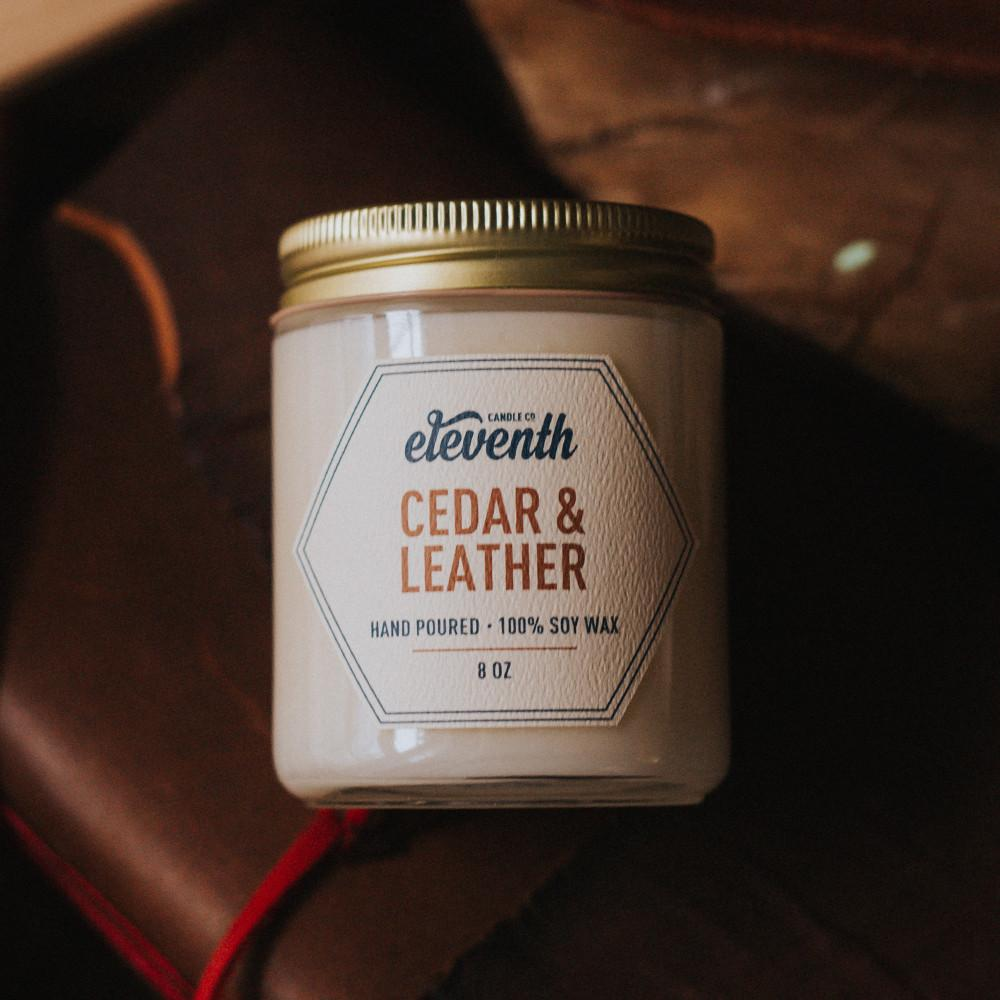 Cedar and Leather Candle