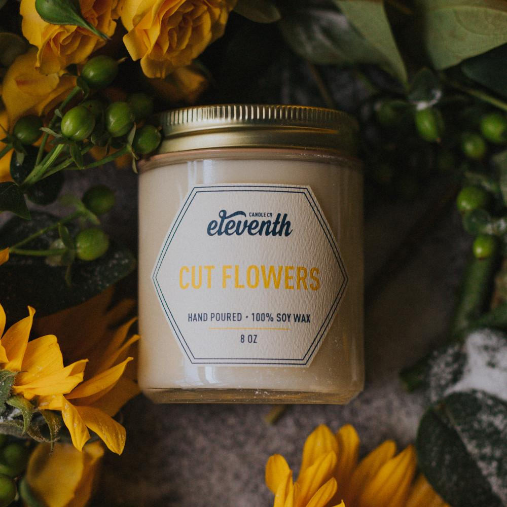 Cut Flowers Candle