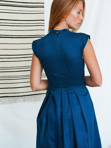 Lucille Dress - Navy