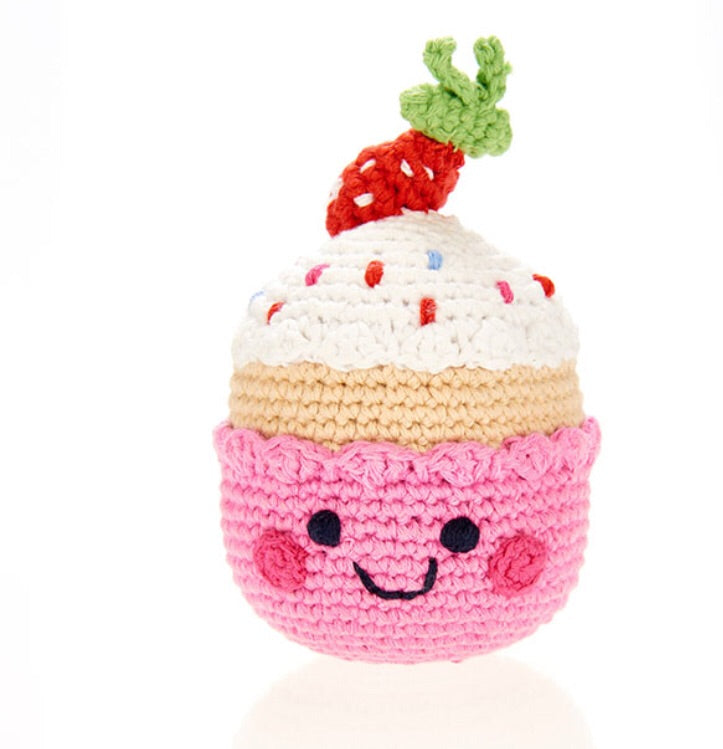 Friendly Cupcake with Strawberry