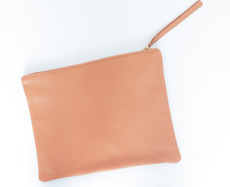 Pebbled Leather Pouch
