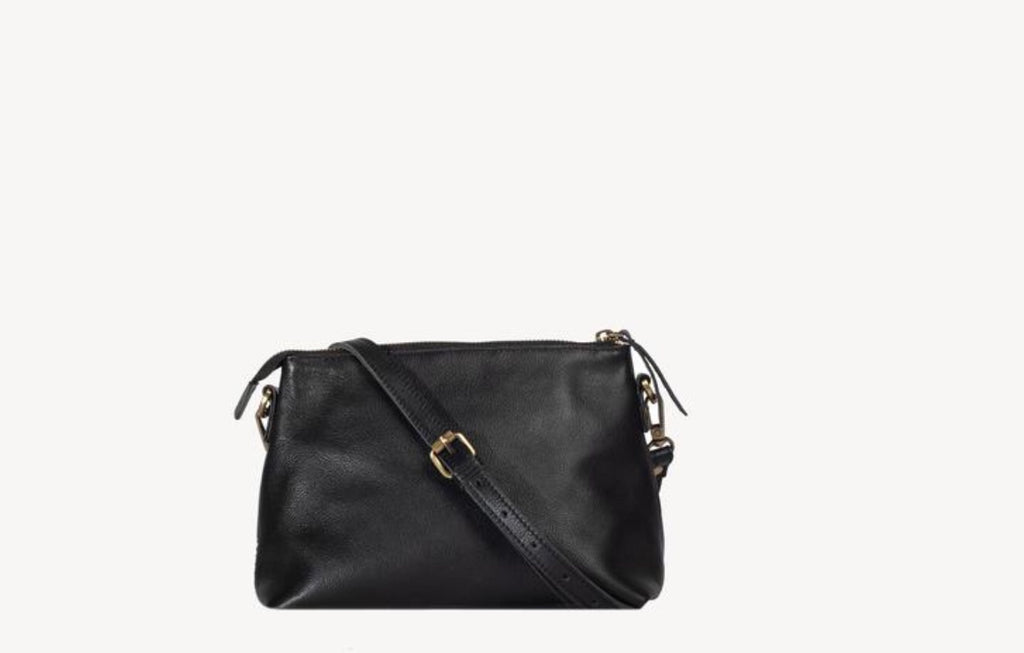 Classic Crossbody Black Leather- Coss Print