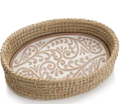 Double Vine Bread Warmer and Basket (Local Delivery/Pickup Only)