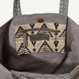 Nisha Grey Suede Tote - Indian Lace