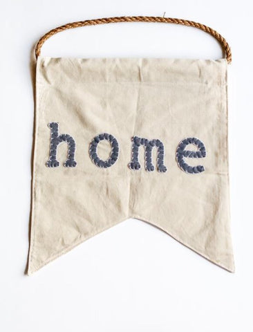 Canvas Felt Banner- Home