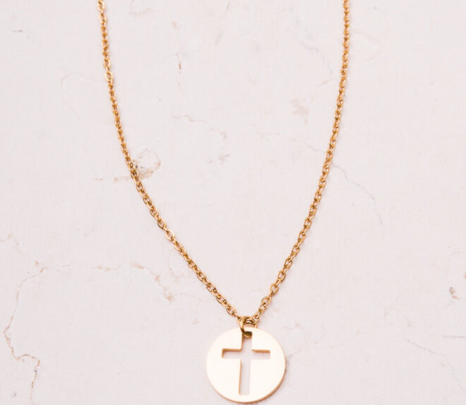 Carolyn Gold Cross Necklace