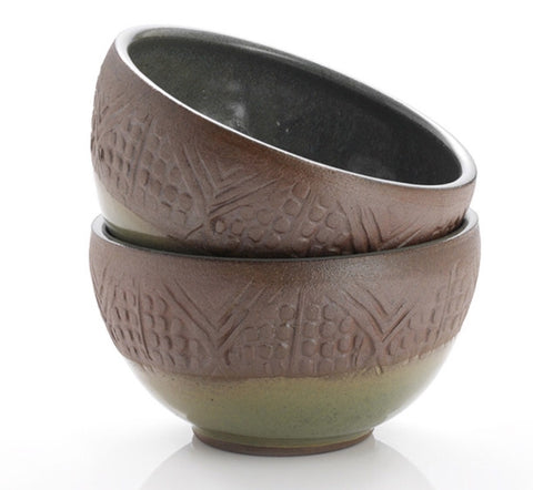 Stamped Geo Set Small Bowl