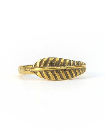 Feather Ring in Gold