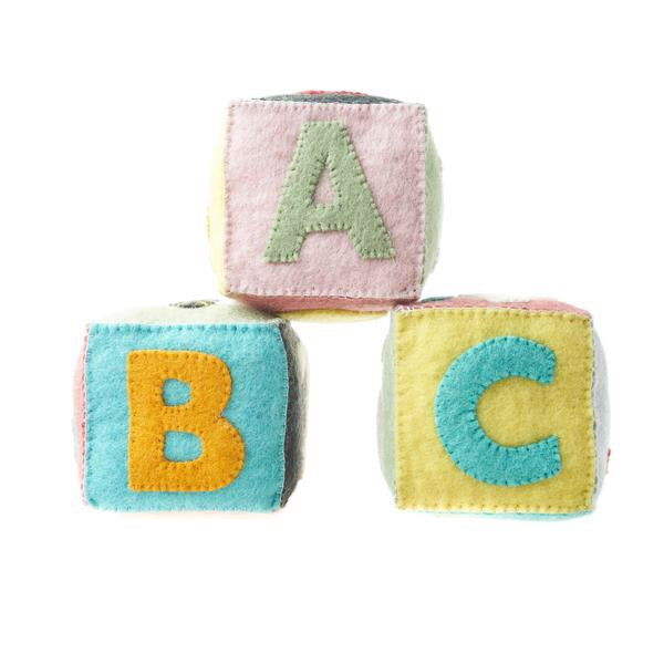 Felt ABC Blocks, set of 3