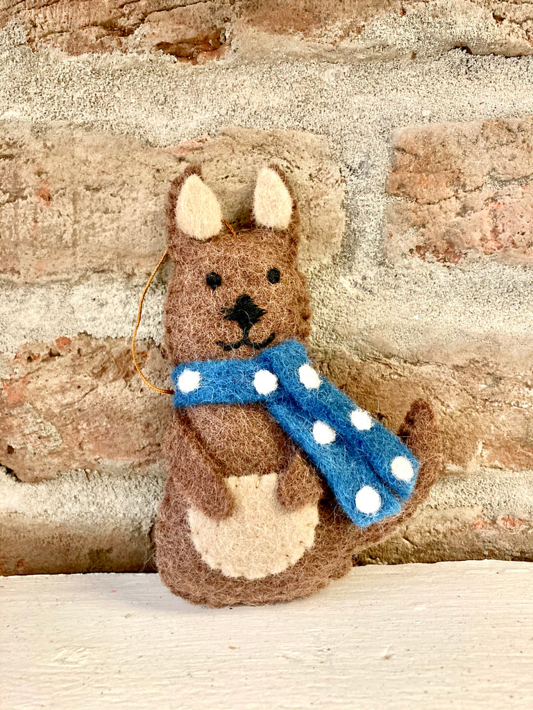 Kangaroo with Scarf Ornament