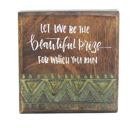 Inspirational Wood Art - Let Love