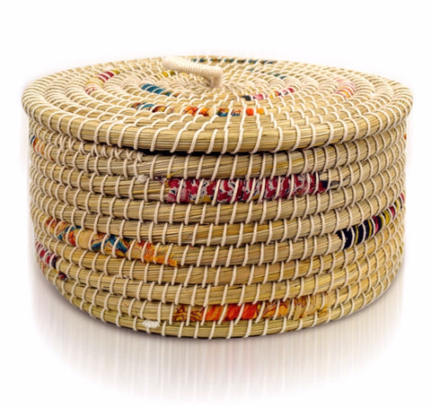 Chindi Stripe Basket (Local Pickup/Local Delivery Only*)
