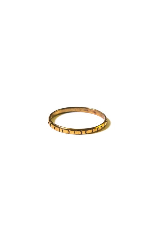 Brass Stacking Ring - Circles