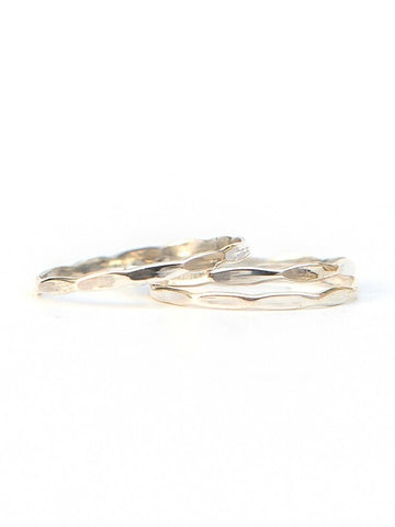 Tiny Waves Sterling Stacking Ring