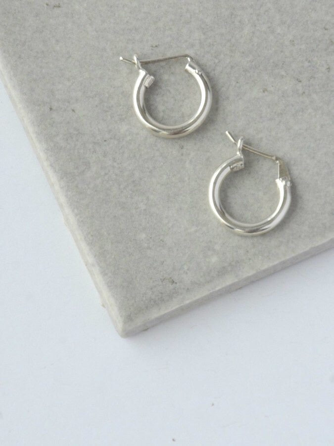 Adriana Sterling Hoop Earrings