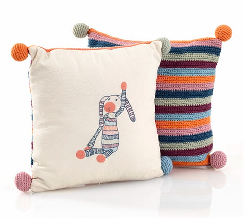Organic Stripey Bunny Pillow