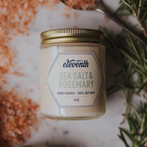 Sea Salt and Rosemary Candle