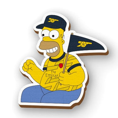 Simpson arsenal hand painted wooden lapel pin