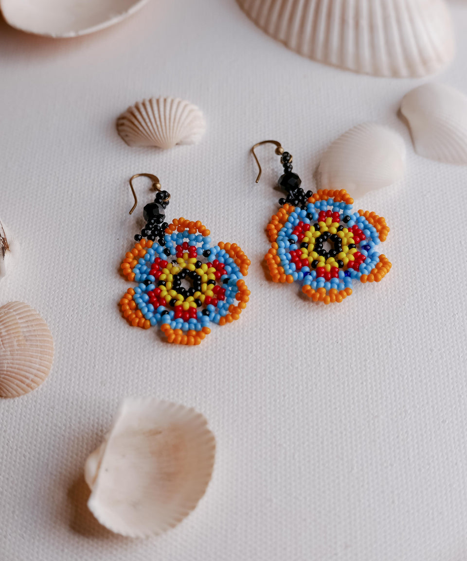 Multi-color Beadwork Earrings 6