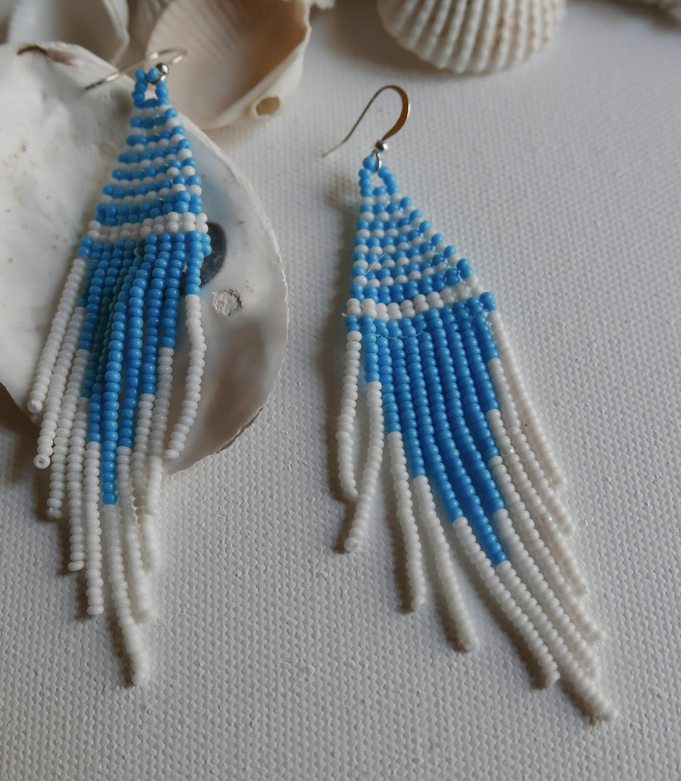 Multi-color Beadwork Earrings 4