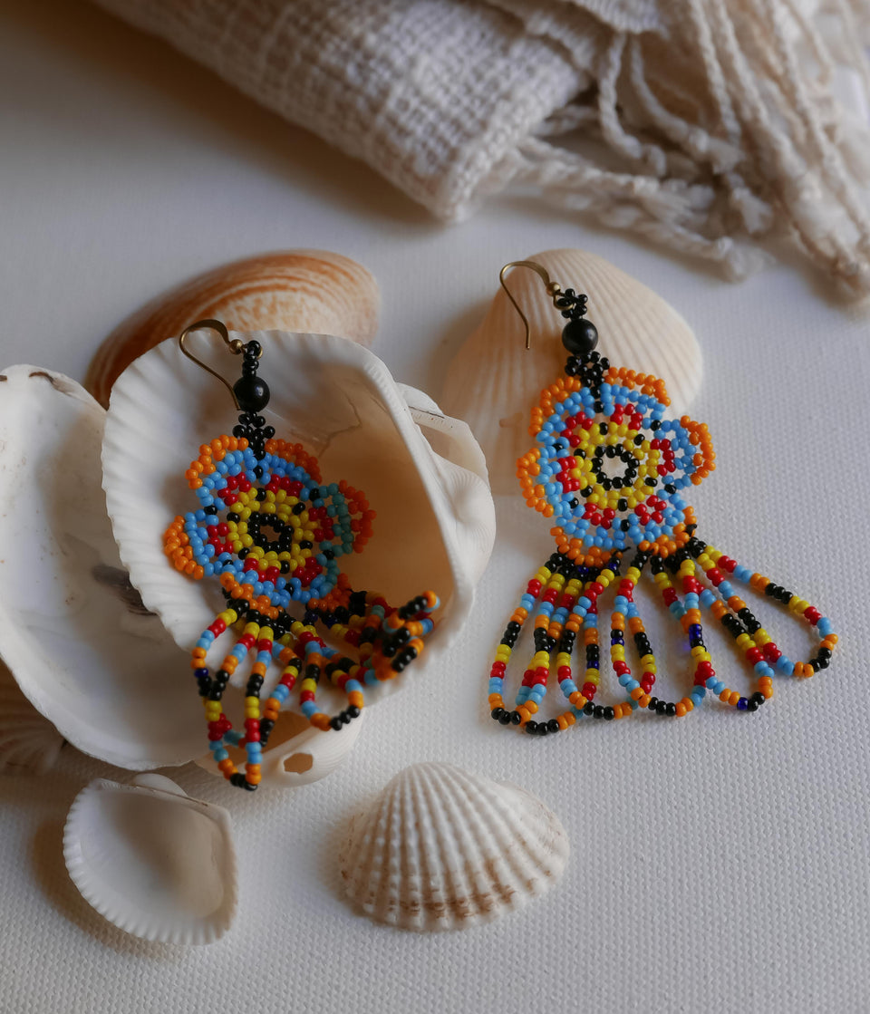 Multi-color Beadwork Earrings 7