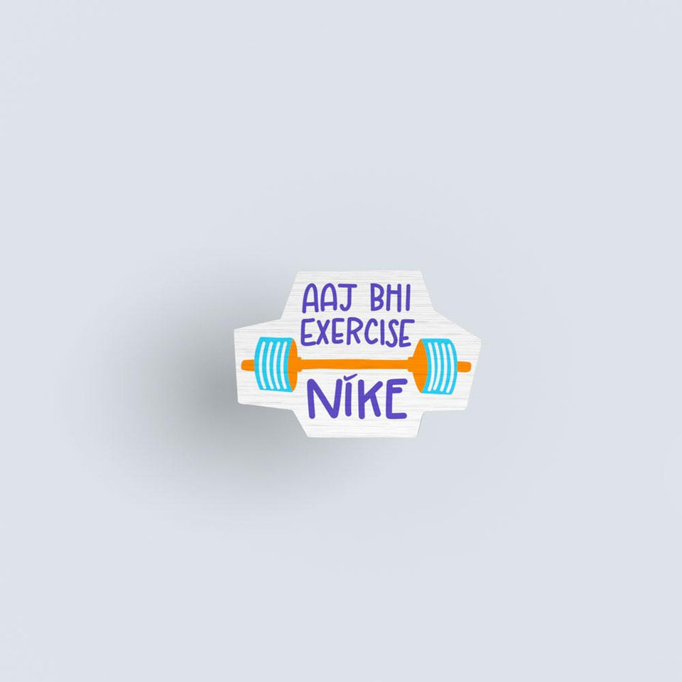 Aaj Bhi Exercise Wooden lapel pin