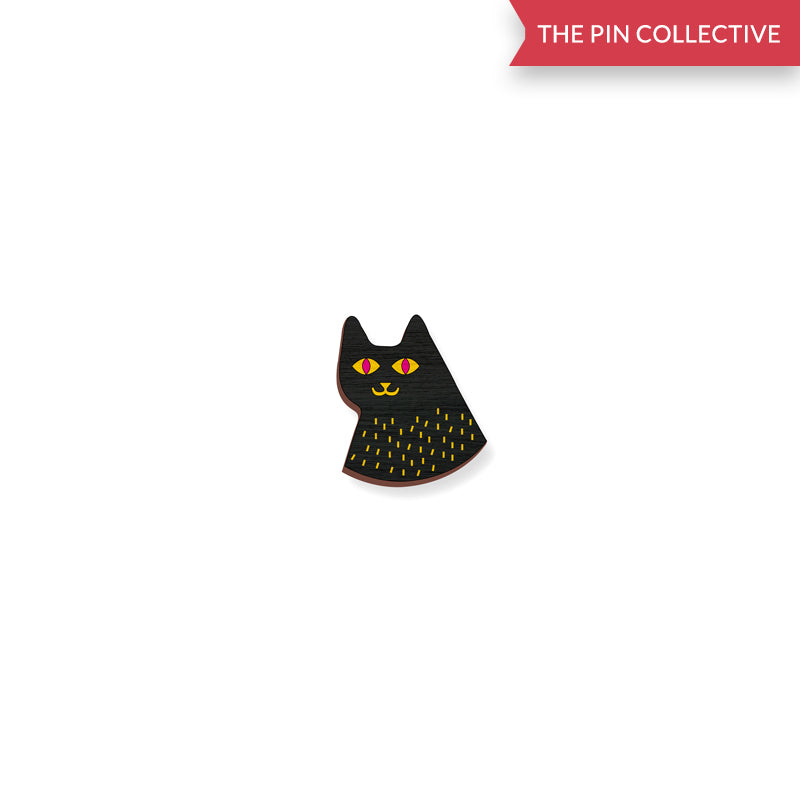 Black Cat - 3 - hand painted pin