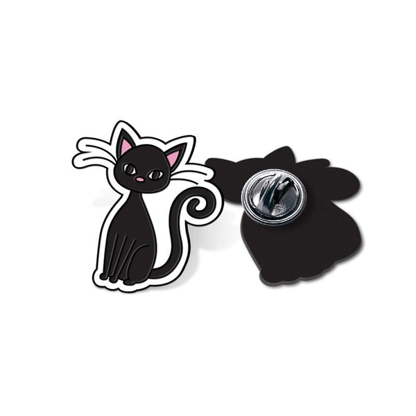 Cat - hand painted pin