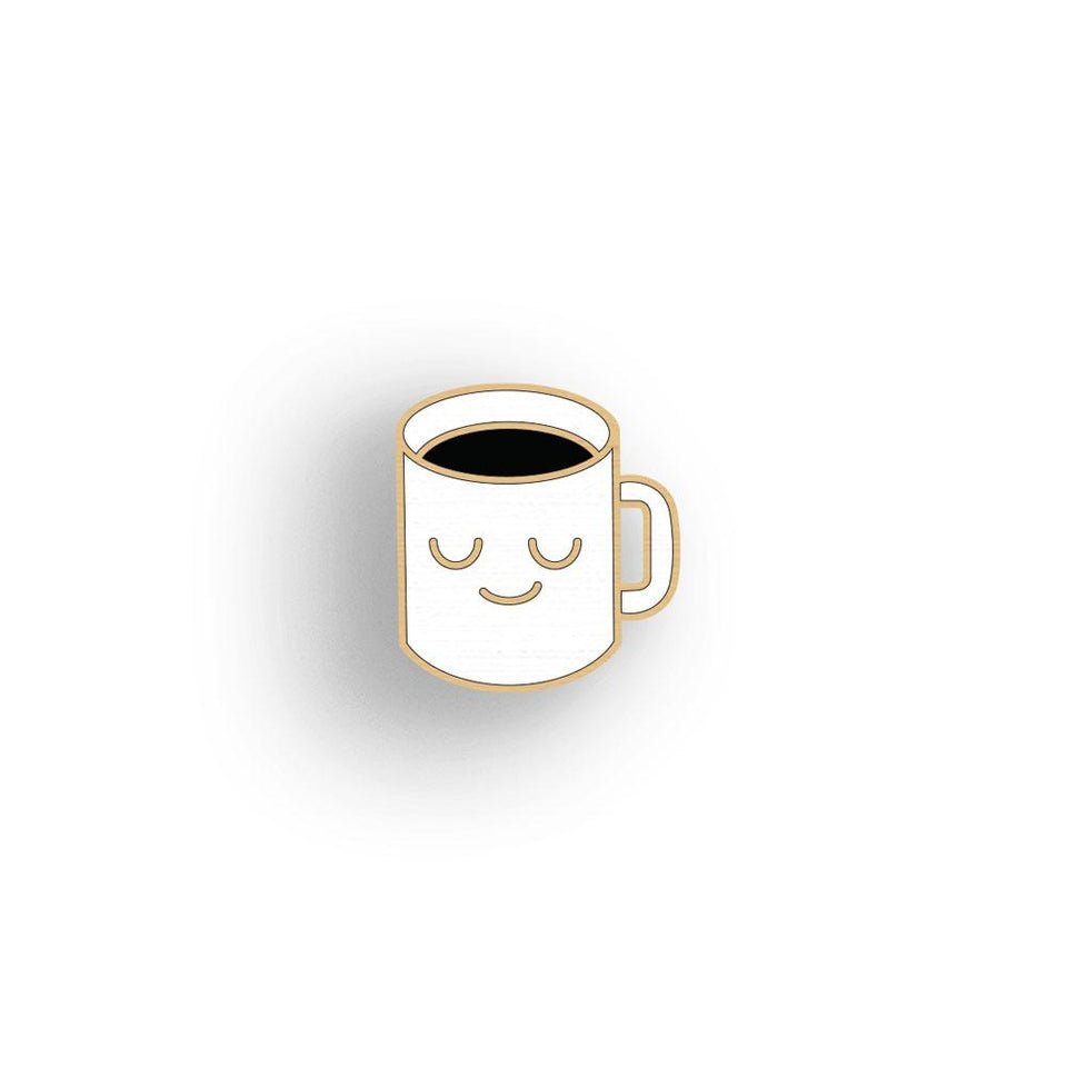 Black Coffee lapel pin