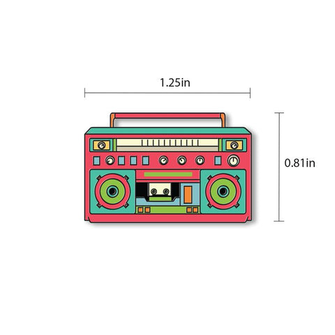 Boombox - hand painted pin