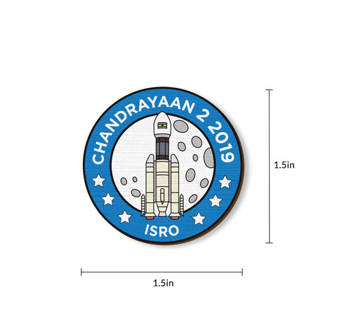 Chandrayaan 2 - hand painted pin