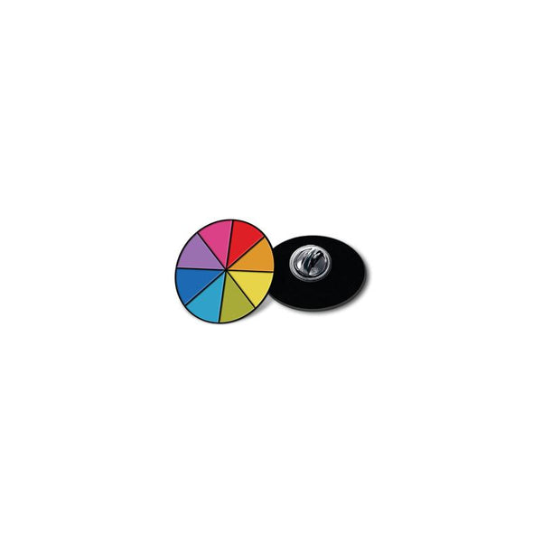 Color Wheel - hand painted pin