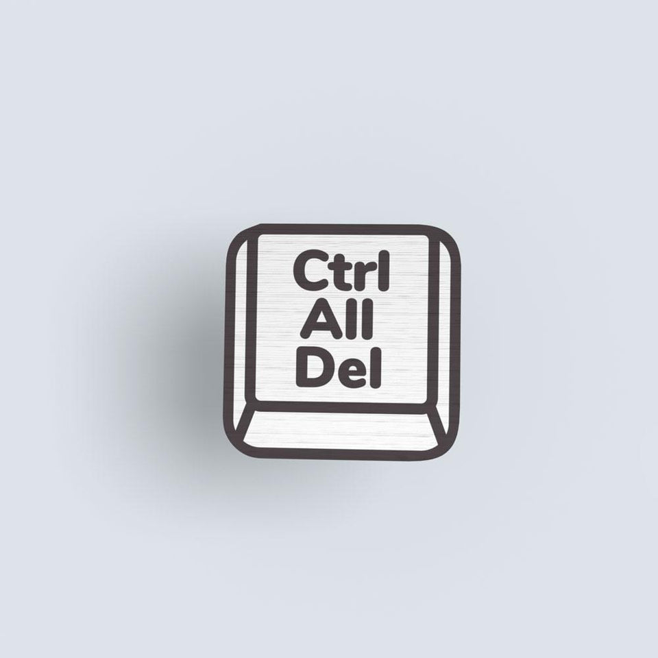 Ctrl All Del 02 - hand painted pin