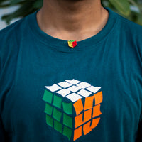Rubik's cube - hand painted pin