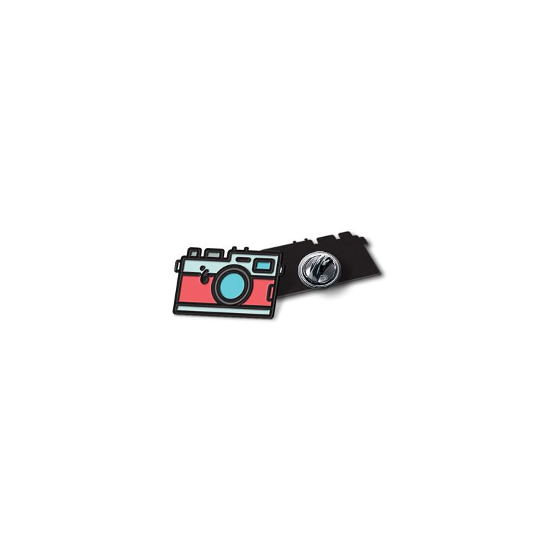 Digital Camera Enamel - hand painted pin