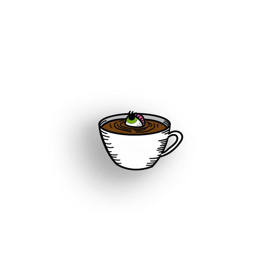 Eye Candy - Morning coffee - hand painted pin