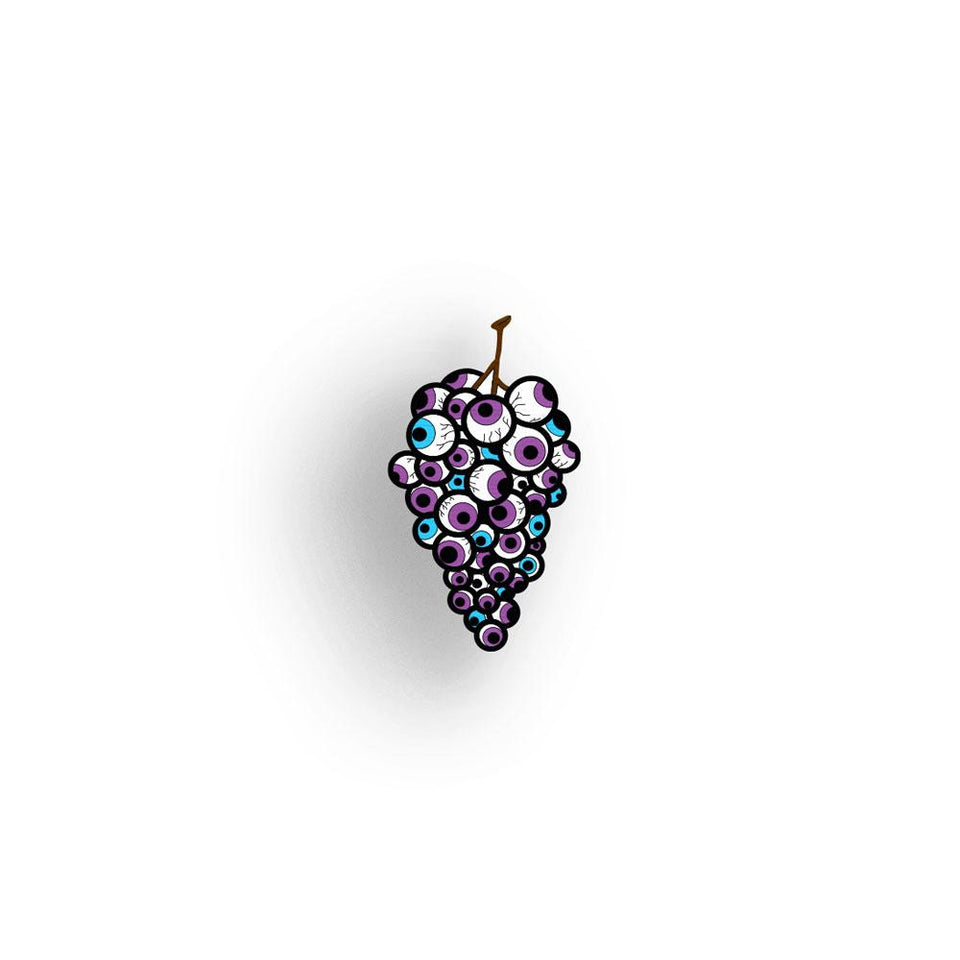Eye Candy - Bunch o'Grapes - hand painted pin