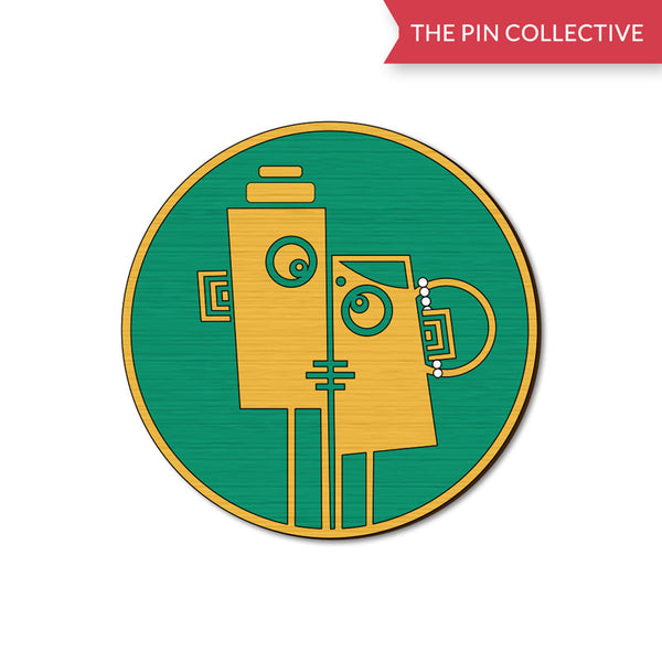 Face 2 Muskaan Jain Wooden Pin The Pin Collective