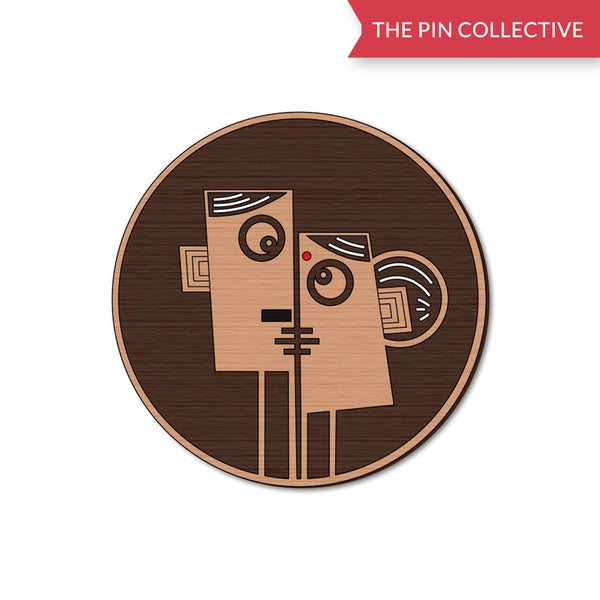Face 3 Muskaan Jain Wooden Pin