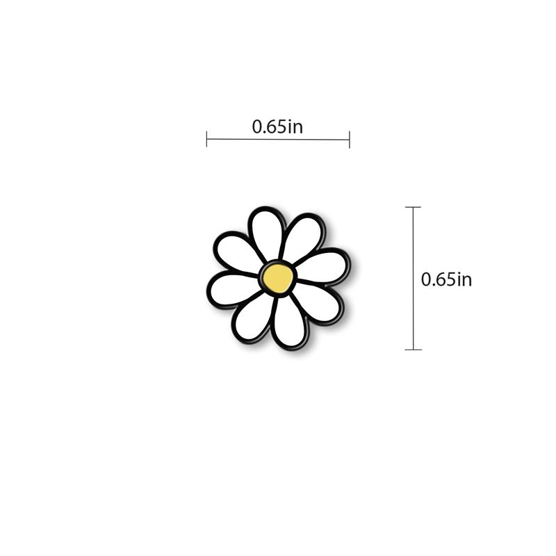 Flower Enamel - hand painted pin