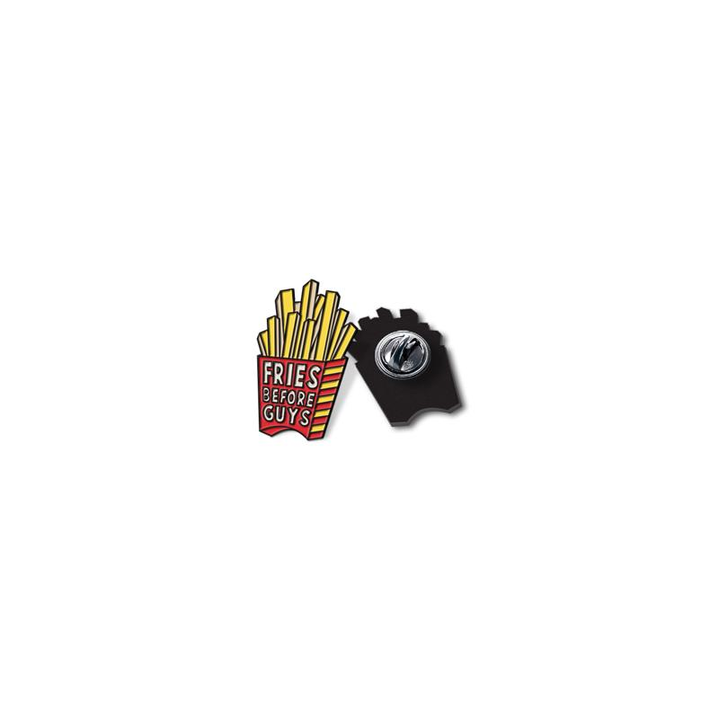 Fries Before Guys Enamel Lapel Pin