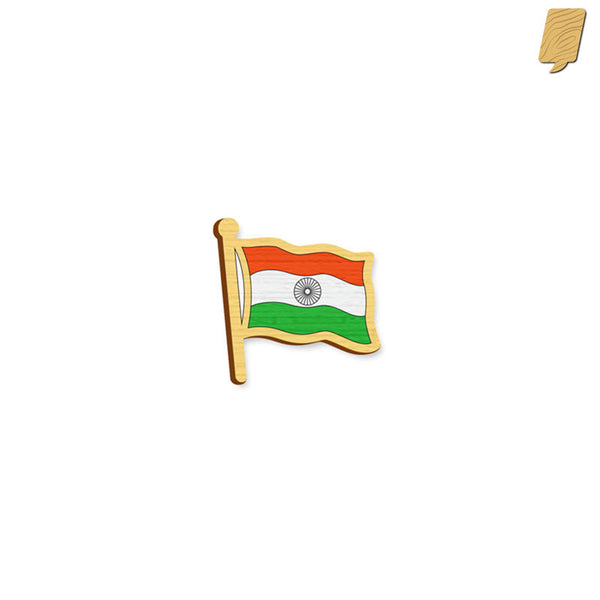 Indian Flag - hand painted pin