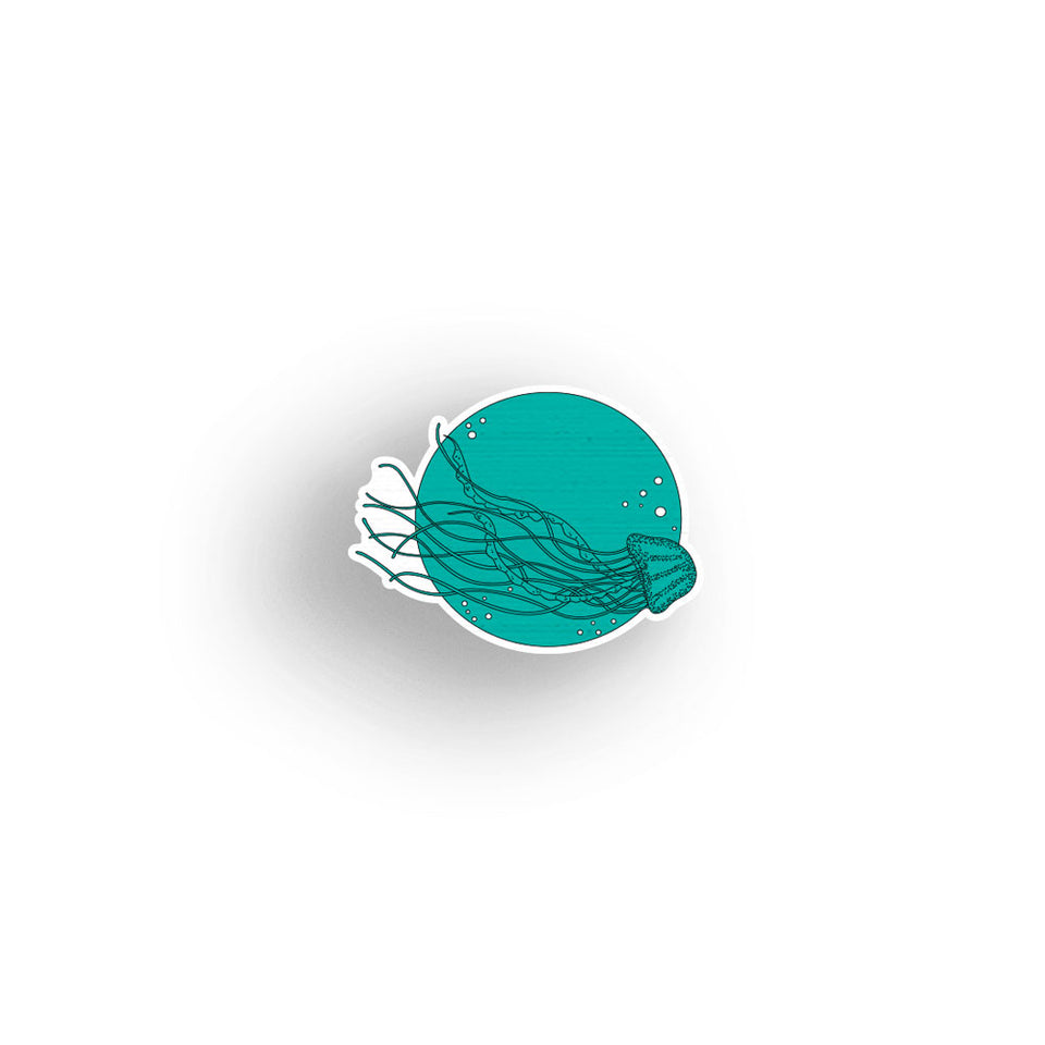 Jellyfish - hand painted pin
