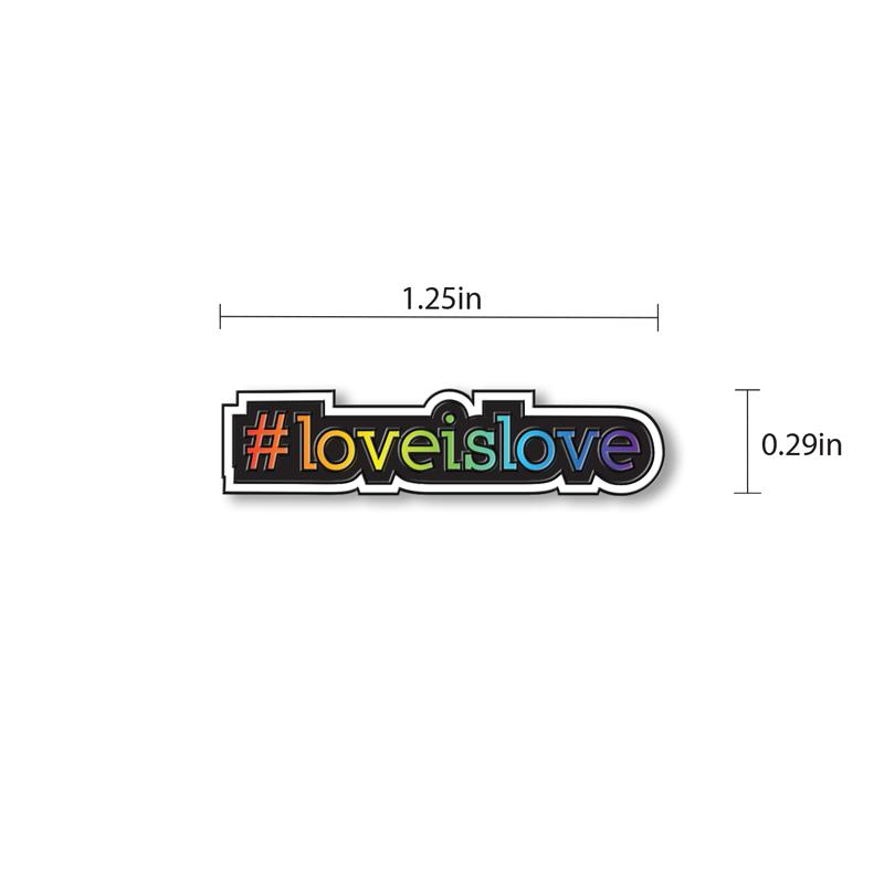 Love is Love Enamel - hand painted pin