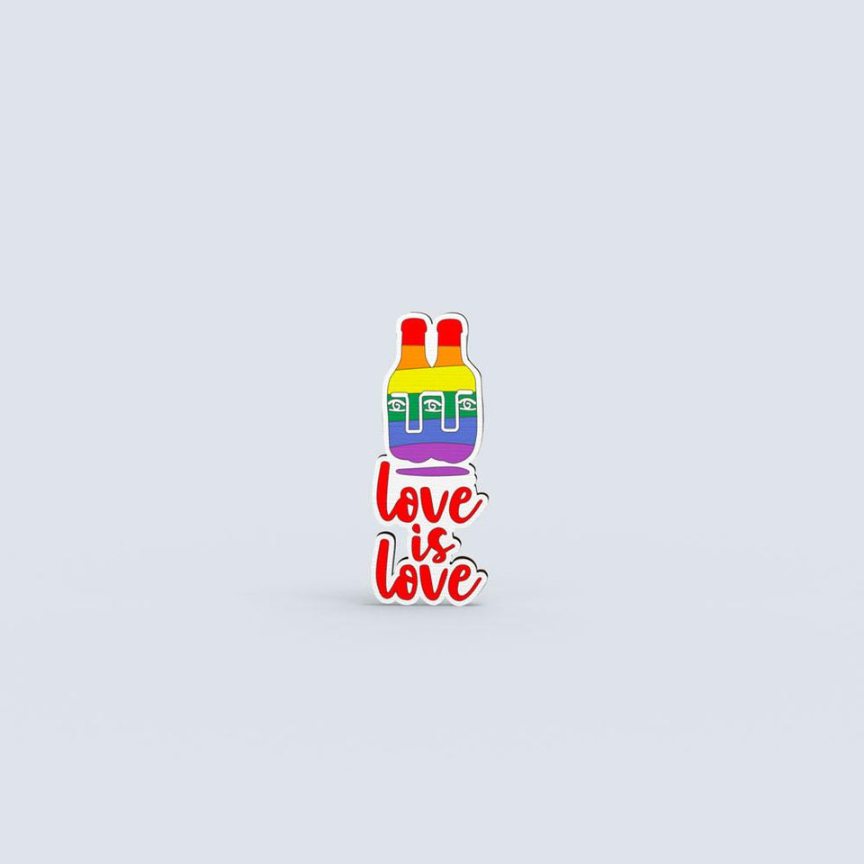 Love is Love 2 - hand painted pin