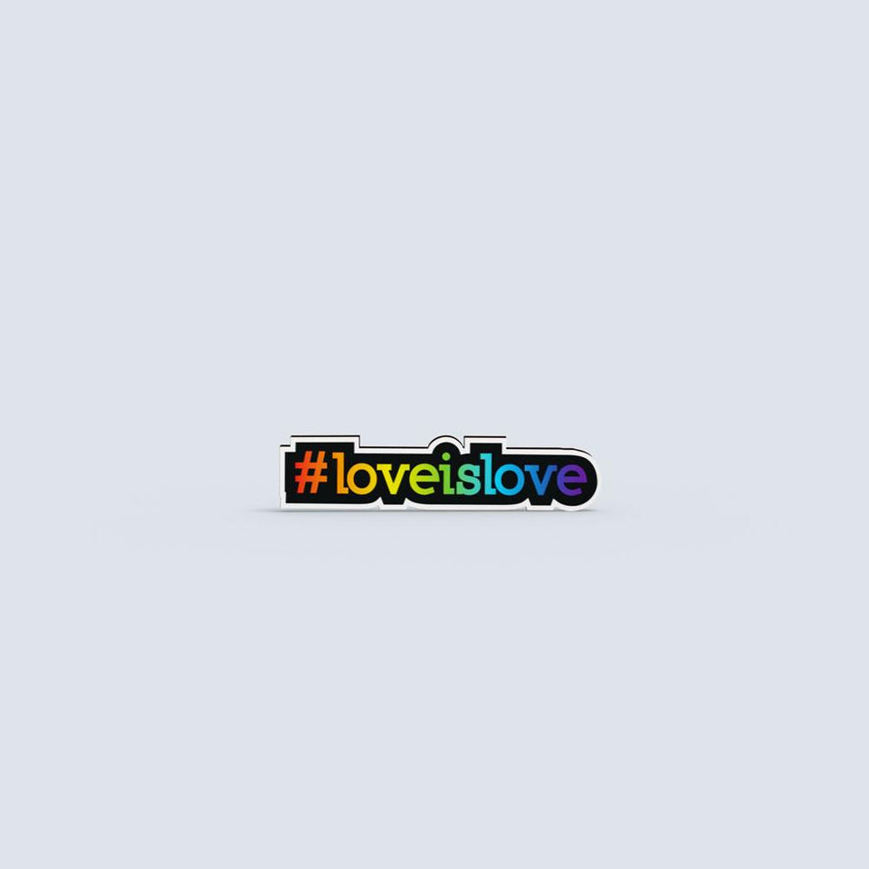 Love is Love - hand painted pin